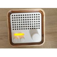 Outdoor Wireless FM Radio Wooden Bluetooth Speaker Lightweight 100HZ - 20KHZ Manufactures