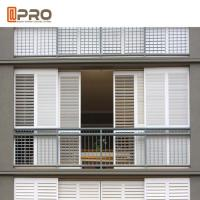 Residential Buildings Aluminium Louver Window With Powder Coating And Anodised Manufactures