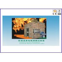Standard Bunched Cable / Wire Flame Test Equipment With 0.1Mpa Gas Pressure Manufactures