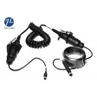 China Waterproof Curly Spiral Power Cord 7 Pole For Video Audio Power Signal Transmission on sale