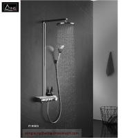 IT-H005 thermostat controlled shower valves #304 SS  thermostatic bath shower set rectangle top Shower with hand shower Manufactures