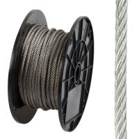 304 316 Stainless Steel Wire Rope Flexible 7 X 37 For Marine / Uplifting Manufactures