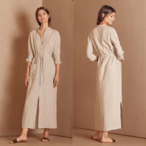 Buy cheap 2018 Autumn New Arrivals Muslim Clothes Button Women Belt Maxi Shirt Dress from wholesalers