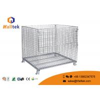 Heavy Duty Wire Mesh Storage Cages Customized Galvanized Saving Space Manufactures