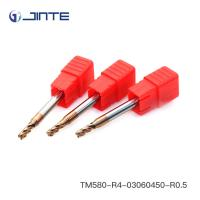 High Precision 3 * 50mm Corner Radius End Mill HRC58 For Cutting Tools Manufactures