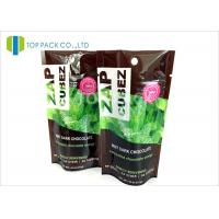 Heat seal Stand Up Zipper Pouch , Printing flexible packaging plastic bags Laminated Manufactures