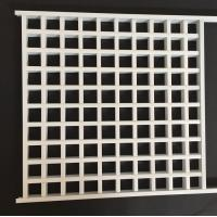 White Powder Coated Metal Grid Panel With Tee Bar , Commercial Suspended Ceiling Manufactures