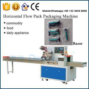 China salon spa plastic razor flow wrapping machine /  disposable razor packaging machine on sale