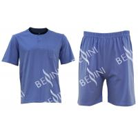 Mens Cotton Jersey Round Neck Tee Short Pants Pyjamas Set Summer Pyjamas Manufactures
