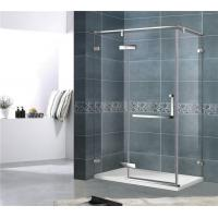 Economic 8MM Single Door Shower Enclosure With Stainless Steel Support Bar and Accessories Manufactures
