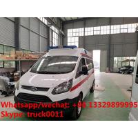 2017s high quality and low price FORD 4*2 LHD Transit gasoline Engine Ambulance car for sale, ambulance vehicle Manufactures