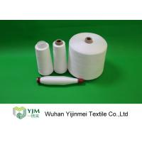 Optical White / Bleached White TPM 828 50s/2 Spun Polyester Yarn 42337 Meters Per KG Manufactures