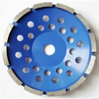 China Segment Diamond Cup Grinding Disc Single Row , Diamond Cutting Wheels Blue Color on sale