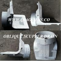 China Z187 Oblique Scupper Drain Cast Iron Body for Roof Drainage on sale