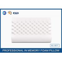Ventilated Wave Memory Foam Neck Massaging Pillow With Velvet Breathable Cover Manufactures