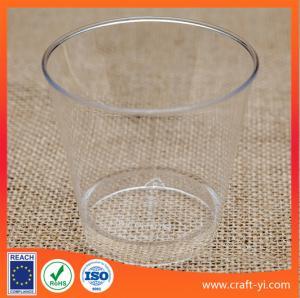 ice cream cone plastic cups hard plastic  in transparent colour