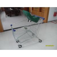 Buy cheap 4 Wheel 210L Anti Theft Supermarket Shopping Carts With Baby Capsule from wholesalers
