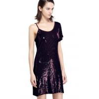 Sequin Embroidery Bling Bling Party Dresses , One Shoulder Club Dress Going Out Wear Manufactures
