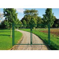 China PVC Coated Welded Wire Fence Galvanised Square Mesh Fencing Green Color on sale