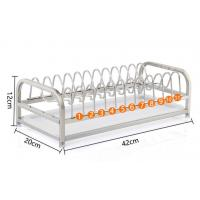 1-Tier Standing Dish Drying Rack , Countertop Storage Kitchen Dish Racks Manufactures