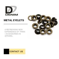 Anti-Brass Eyelets & Grommets For Garments Nickel Free Bulk Trims Manufactures