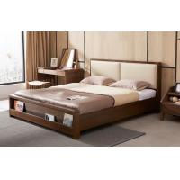 High Standard Wooden Queen Bed Base , Home Wooden Bed Frames With Storage Manufactures