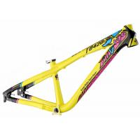 Aluminum All Mountain Dirt Jump Bike Frame 100 - 140 Mm Travel Yellow Color Manufactures