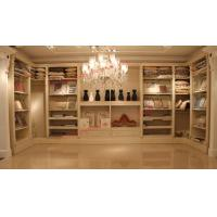 Luxcury Indoor Villa Furniture wood in-wall Wardrobe room by ivory white with mirror Manufactures