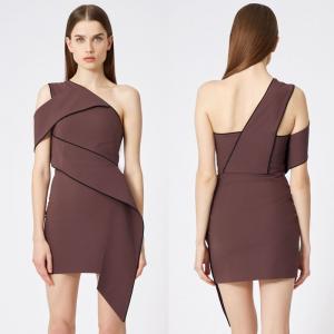 Wholesale Shoulder slope ladies formal midi dress Manufactures