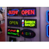 Rectangular Shape Flashing LED Open Sign Black Acrylic With Resin Letter Manufactures