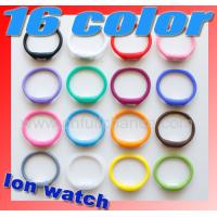 China new style minus ion silicone sport watch on sale