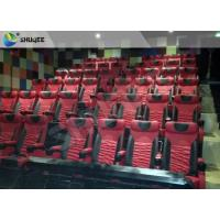 Red Electric Seat 4D Movie Theater With Motion Chair System / Digital Special Effect Manufactures
