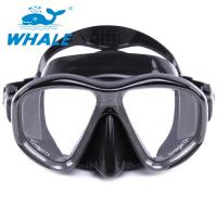 Durable Liquid Silicone Diving Mask Low Volume Design Tempered Glass Lens Wide View Manufactures
