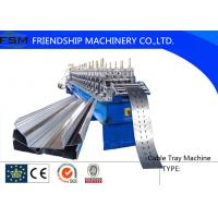 Cable Tray Roll Cutting Machine 10~15m/min Speed For 1-2mm Thickness Steel Manufactures