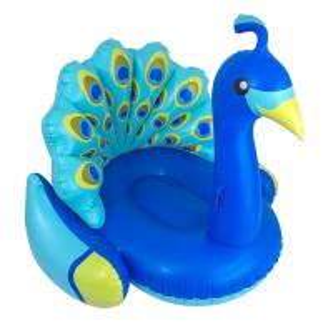 Giant Blue Peacock Pool Float , Swimming Pool Floats Heavy Duty PVC Vinyl