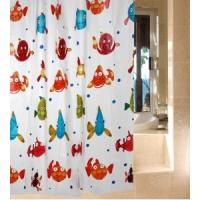 Bathroom Flower Window Shower Curtain , Polyester And Water Repellent Manufactures