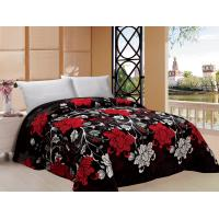 Big Flower Pattern Warm Bed Sheets For Winter , Printed Flannel Winter Bedding Sets Manufactures