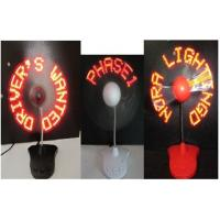 Charming 110MM LED Flashing Fan For Business Gifts / LED Light With Fan Manufactures