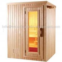 4 People Dry Steam Room Equipment Durable White Pine Wood With Sauna Accessories Manufactures
