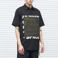 China Black Color Stylish Mens T Shirts Polyester / Cotton Material Patchwork Pattern on sale