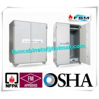 Security Fire Resistant Storage Cabinets , Fireproof Vertical File Cabinet For Office Data Manufactures