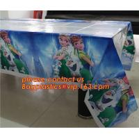108cm *180cm Cartoon princess disposable tablecloth happy birthday party plastic tablecover supplies girls favor 1pcs/lo Manufactures