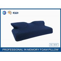 Butterfly Shape Navy Curved Memory Foam Pillow With Soft Zippered Cover Manufactures