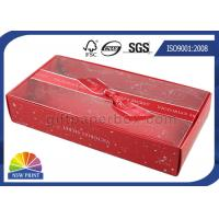 Custom Sizes Foldable Paper Gift Box With Imprinted Ribbon Bowknot Decorated Manufactures