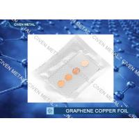 12 mm Circular Graphene on Cu Foil Sheet , ED Copper Foil for Electronics Manufactures