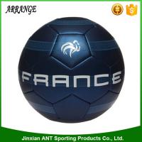 China Hot sale sporting goods silkscreen printing blue color machine sitiched bulk soccer balls size 4 on sale