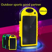 China Travel Camping double usb solar mobile phone battery charger 5000mAh on sale