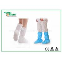 Nonwoven Surgical Medical Boot Covers , Non Slip Waterproof Shoe Covers For Cleaning Room Manufactures