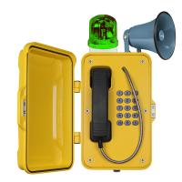 IP67 Waterproof Industrial VoIP Tunnel Telephones With Horn And Beacon Manufactures