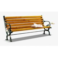 Anti Corrosion Bamboo Park Bench Easy Cleaning Antique Style With Long Using Life Manufactures